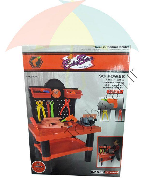 ست ابزار نجاری اسباب بازی