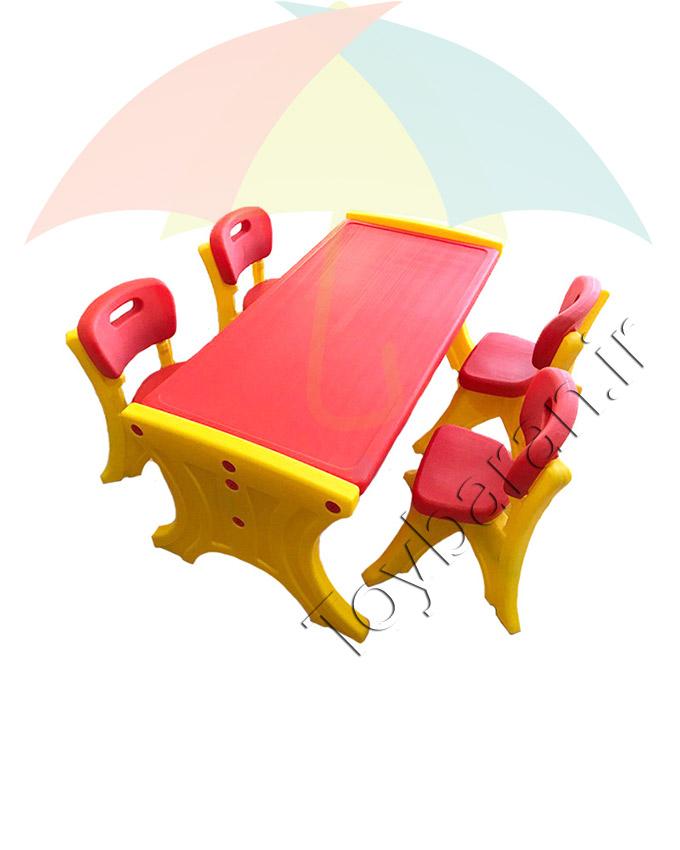 میز مستطیلی پلی اتیلن