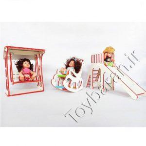 ست چوبی وسایل عروسک
