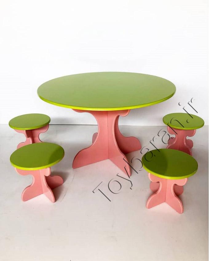 میز و صندلی کودک گرد