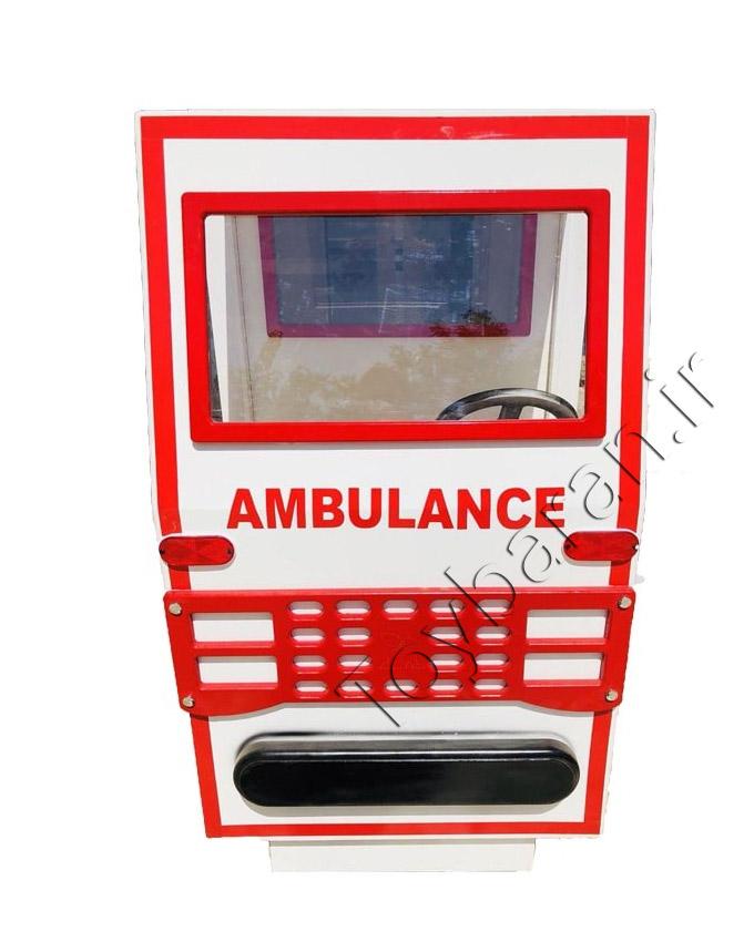 ماشین آمبولانس چوبی کودک