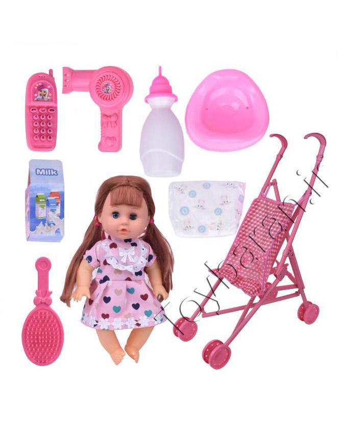 عروسک بیبی کالسکه دار